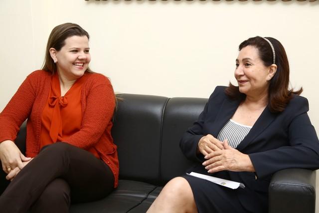 Délia Razuk e Daniela Hall se reuniram na manhã desta terça-feira, no Gabinete da prefeita, no CAM – Foto: A. Frota