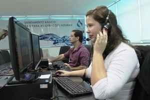 Funcionários em videoconferência - Assessoria