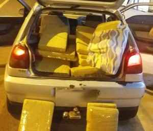 O destino final da droga seria São Paulo/SP – Foto: PRF