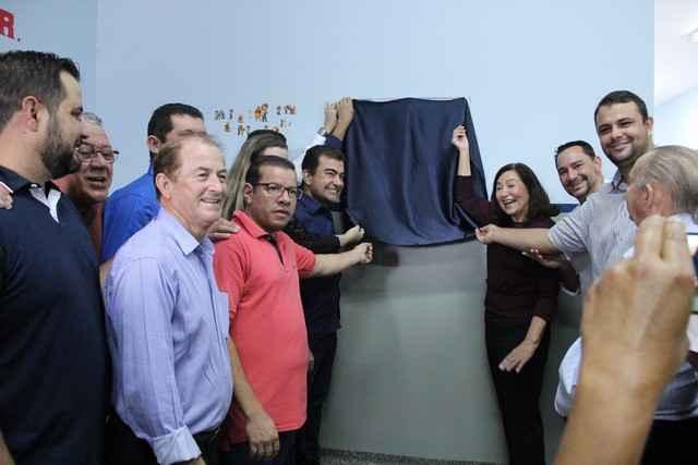 Pedro Pepa participou da inauguração do PAI e comemorou a ativação do local - Foto: Eder Gonçalves