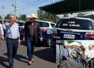 Governador entregou viaturas e armas(no detalhe) nesta terça-feira – Foto: Edemir Rodrigues