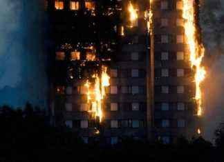As chamas tomaram conta da torre de 24 andares, que tem 120 apartamentos e cerca de 200 moradores – Foto: Reuters