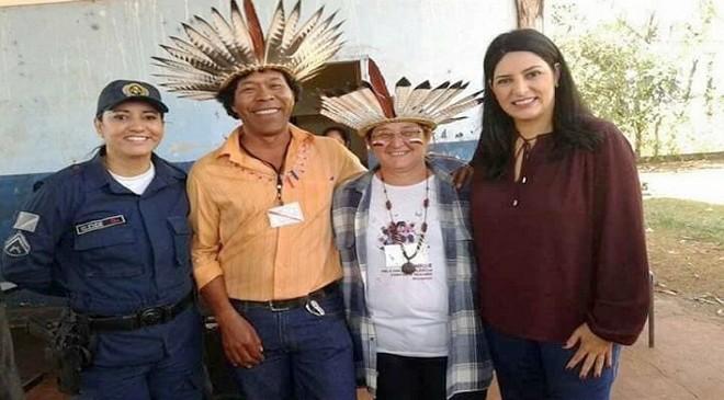 Comunidade pediu e subsecretária Luciana Azambuja solicitou projeto de enfrentamento à violência para auxiliar mulheres indígenas – Foto: Assessoria