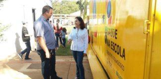 Carlito do Gás e Délia Razuk durante visita ao programa - Divulgação