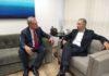 Geraldo Resende reunido com o governador Reinaldo Azambuja para garantir mais recursos para o tapa-buracos em Dourados - Foto: Eliel Oliveira