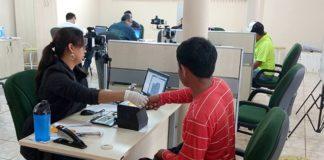 Indígenas estão recebendo certidão de nascimento e RG; documentos que sem eles os índios ficavam expostos à ação de golpistas – Foto: Sejusp