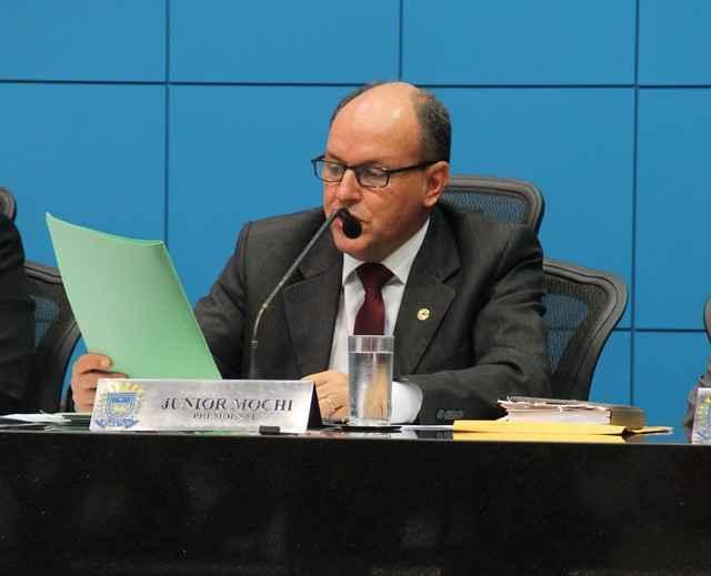 Deputado Junior Mochi (PMDB), presidente da Assembleia Legislativa – Assessoria ALMS