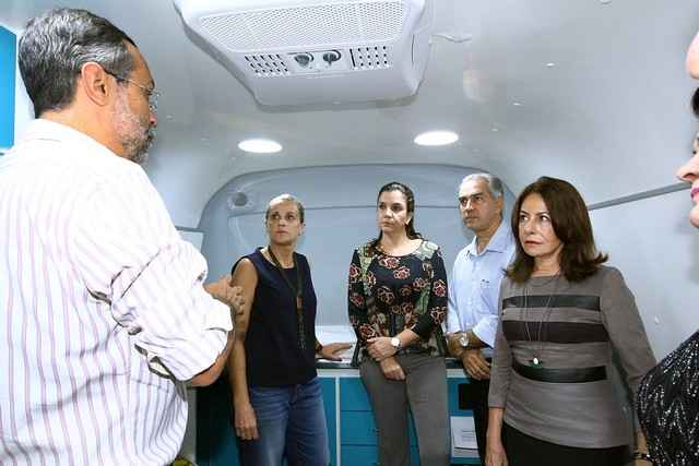 Reinaldo participou da entrega da nova unidade móvel do grupo Onça Pintada, nesta terça-feira, em Campo Grande - Foto: Edemir Rodrigues