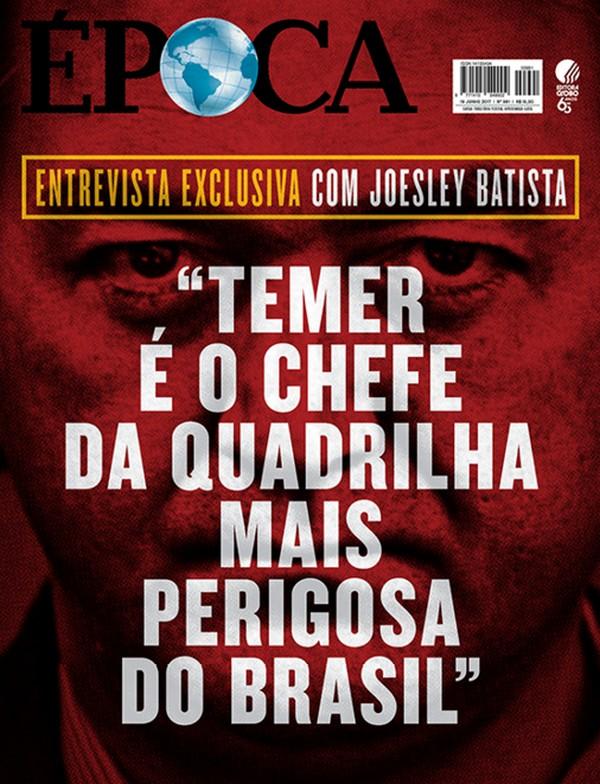 Reprodução da capa da Revista Época