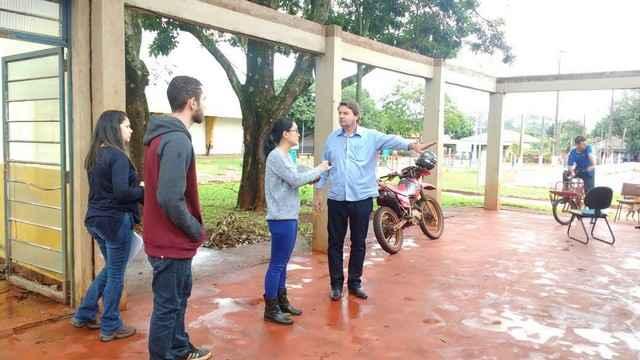 Silas Zanata durante visita para levantamento - Divulgação