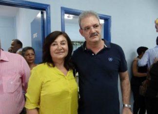 Délia Razuk com Geraldo Resende; decisão judicial negou pedido de cassação feito pela coligação de Geraldo - Foto: Reprodução/Facebook