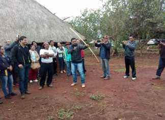 Evento contou com a participação de professores e alunos das escolas municipais da reserva indígena – Foto: Assecom
