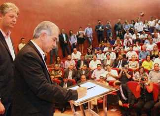 Governador assinou decreto na noite desta segunda-feira, 05, durante a solenidade em comemoração ao Dia Mundial do Meio Ambiente – Foto: Edemir Rodrigues