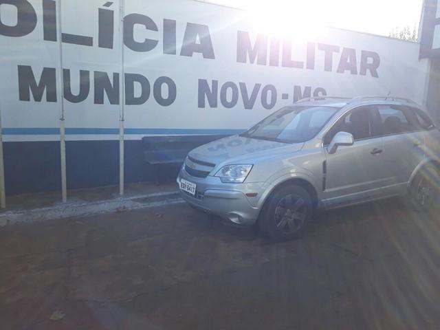 Veículo Chevrolet Captiva havia sido roubado na cidade catarinense de Florianópolis no início desse mês – Foto: SGT PM Nilson Silva