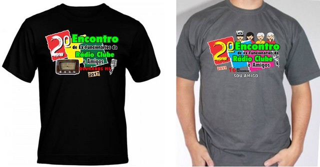 Camisetas do segundo encontro dos ex-funcionários da Rádio Clube de Dourados – Divulgação