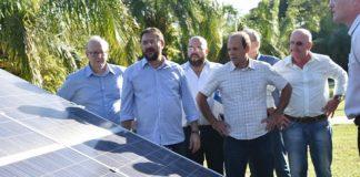 Projeto de geração de energia fotovoltaica foi apresentado pelo presidente da Fiems, Sérgio Longen, durante reunião com empresários nesta sexta-feira - Assessoria
