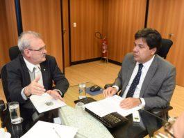 Em audiência, ministro Mendonça Filho garante ao deputado Geraldo Resende início das obras do Hospital da Mulher e da Criança - Divulgação