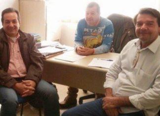 Marisvaldo, Peninha e Silas acertam detalhes para o Encontro Regional - Divulgação