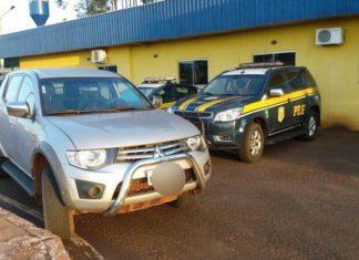 Veículo recuperado que estava com as freiras; elas realizavam trabalho social em um assentamento no município de Sidrolândia – Foto: PRF