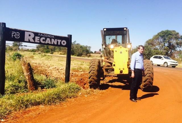 Silas Zanata durante visita ao distrito de Itahum - Divulgação