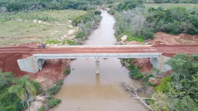 Uma das pontes construídas sobre o Rio Jogui, em Amambai – Foto: Agesul