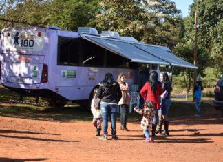Ônibus Lilás é equipado para registro de boletim de ocorrência policial e demais procedimentos, como a orientação e encaminhamentos aos demais serviços da rede - Foto: Luiz Radai/Assecom