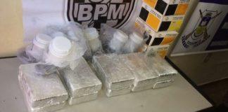 Foram apreendos 11 quilos de cocaína – Divulgação PM Dourados
