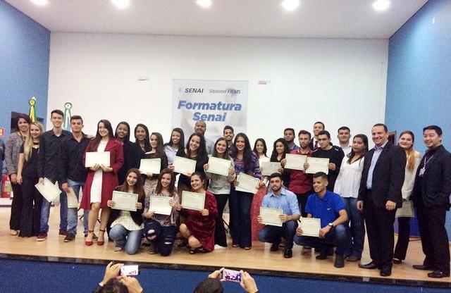 Formatura em Naviraí; Senai certificou 56 alunos - Divulgação