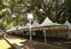 Toda estrutura para a 40ª edição da Festa Junina de Dourados estava sendo montada nesta quinta-feira – Foto: A. Frota