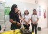 """Grupo de alunos que participou da criação do projeto """"Urupet na Estrada"""" fez a demonstração do protótipo na Escola do Sesi - Assessoria"""