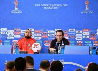 Vidal fez questão de dizer que o Chile é a melhor seleção do mundo, mas Pizzi foi menos incisivo - Foto: AFP
