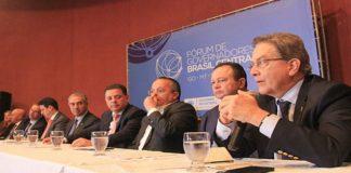 Paulo Rabello de Castro, presidente do BNDES(a direita), durante a 4ª Reunião do Fórum de Governadores do Brasil Central - Foto: Chico Ribeiro