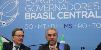 Durante o Fórum Brasil Central, governadores cobram presença maciça das Forças Armadas e de tropas federais nas fronteiras do País – Foto: Chico Ribeiro