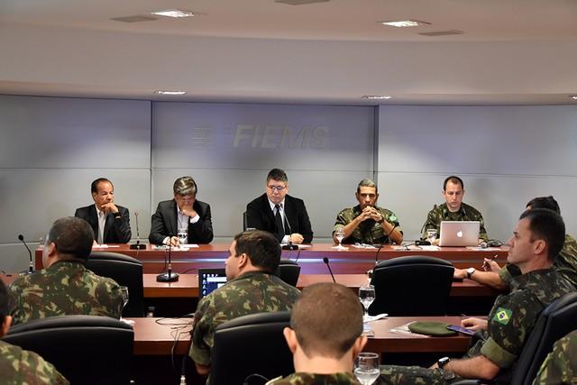 Apresentação sobre a realidade econômica de Mato Grosso no Sul a militares foi nesta sexta-feira no Edifício Casa da Indústria - Divulgação