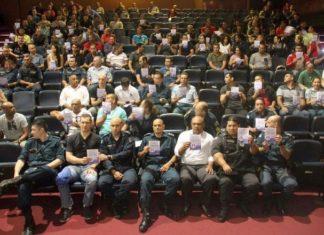 Solenidade de lançamento da campanha ocorreu nesta quarta-feira, 09, no Teatro Municipal de Dourados – Assessoria 3° BPM