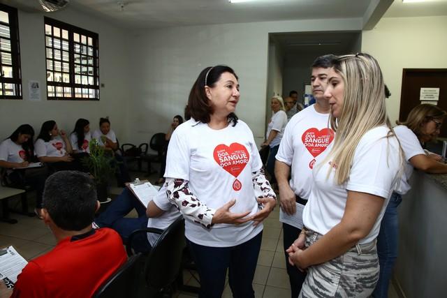 Prefeita Délia Razuk também foi ao Hemocentro e destacou importância da doação de sangue – Foto: A. Frota