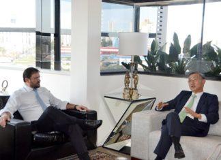 Presidente da Fiems, Sérgio Longen recebeu o embaixador da República da Coreia do Sul no Brasil, Jeong-gwan Lee, nesta quarta-feira, 02 - Assessoria