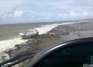 Resgate de vítimas em Mar Grande, na Bahia - Foto: Graer/ Divulgação