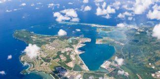 Vista aérea da base de Guam(U.S. Navy/Reuters)