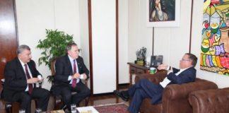 Secretário José Elias foi recebido pelo ministro Blairo Maggi na manhã desta quinta-feira, em Brasília - Divulgação