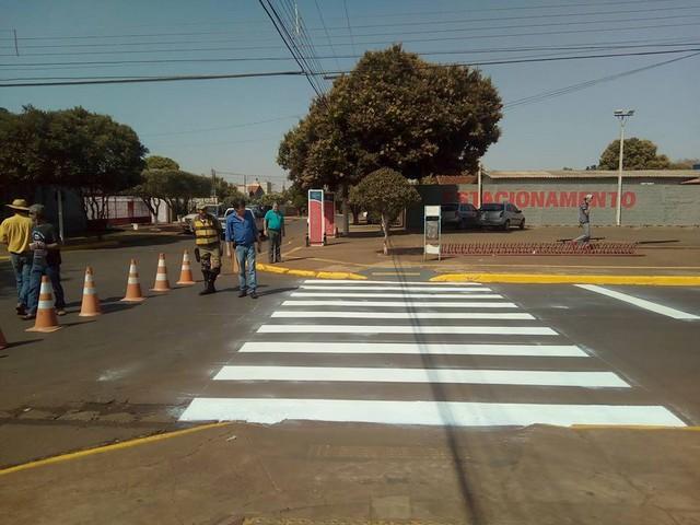 Ações de sinalização nas principais vias da cidade contribuem para o melhor fluxo do trânsito na cidade - Divulgação/Agetran