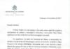 Vaticano enviou carta para casal que batizou filhos em Curitiba - Foto: Reprodução/Facebook