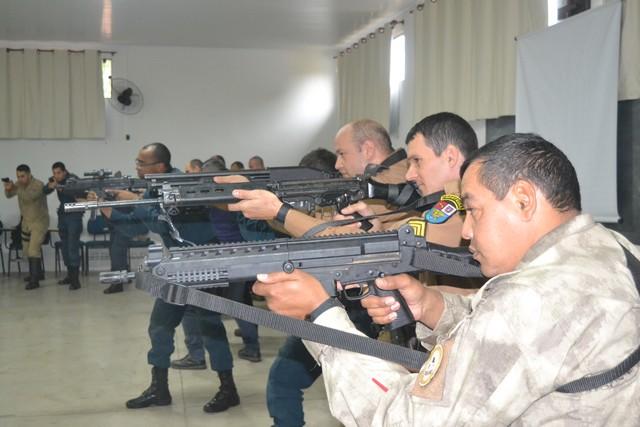 Ministrado pelo BOPE (Batalhão de Operações Policiais Especiais) de Campo Grande, o curso capacitou 37 profissionais - Assessoria