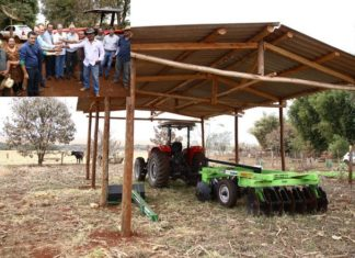 Equipamentos agrícolas foram entregues a assentados em Itahum na manhã de quarta-feira; em destaque a entrega das chaves – Fotos: A. Frota
