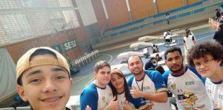 Alunos da Escola do Sesi de Dourados que participaram da etapa da Olimpíada Brasileira de Robótica - Divulgação