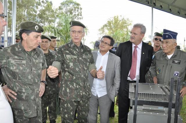 Deputado federal Geraldo Resende, durante o lançamento do Sisfron em Dourados, no ano de 2014 - Divulgação