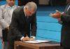 Lei foi sancionada pelo governador Reinaldo Azambuja durante sessão solene, na manhã desta segunda-feira, 21 - Foto: Rachid Waqued