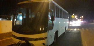 Ônibus apreendido na tarde desta quinta-feira durante fiscalização da Polícia Militar - Assessoria
