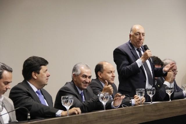 Pedro Chaves durante discurso na Assomasul - Foto: Edson Ribeiro