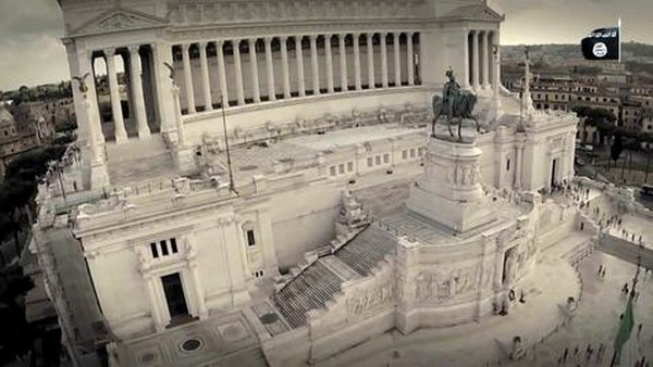 """""""Altar da Pátria"""", em Roma, é exibido em vídeo do EI - Foto: ANSA"""
